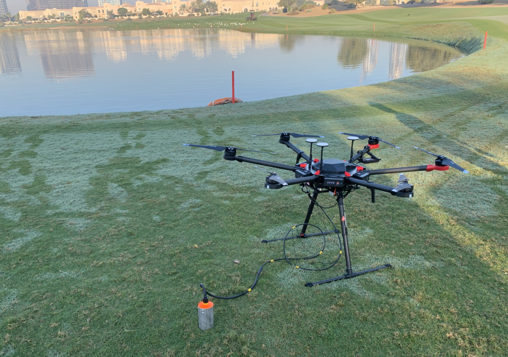 Drone payload for Bathymetric Survey
