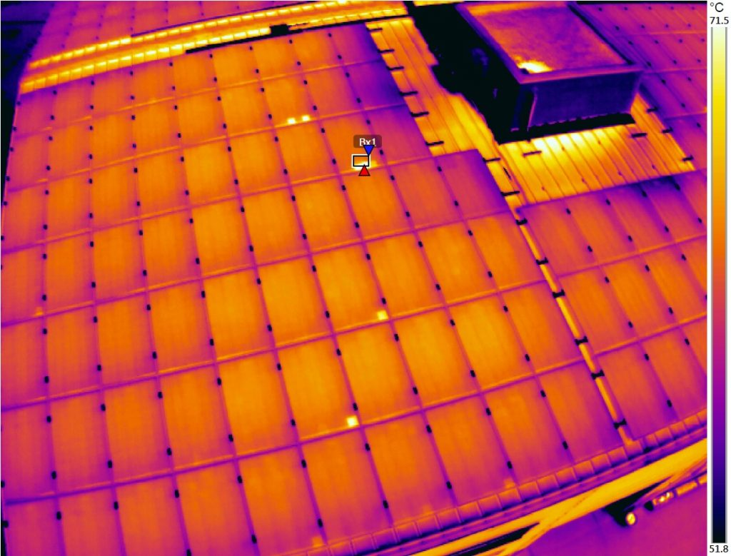 thermal map inspection solar panel modules
